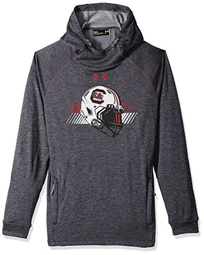 Under Armour NCAA South Carolina Fighting Gamecocks Mens NCAA Men's French Terry Pull-Over Hood, Medium, Carbon Grey Heather (Hoodie Ncaa Pullover)
