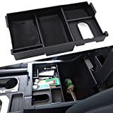 #7: Center Console Insert Organizer Tray Fit Toyota Tundra 2014-2017, Armrest Secondary Storage Box Glove Pallet Car Accessories