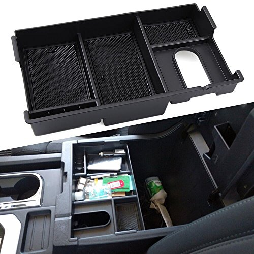 Center Console Insert Organizer Tray Fit Toyota Tundra 2014-2017, Armrest Secondary Storage Box Glove Pallet Car Accessories