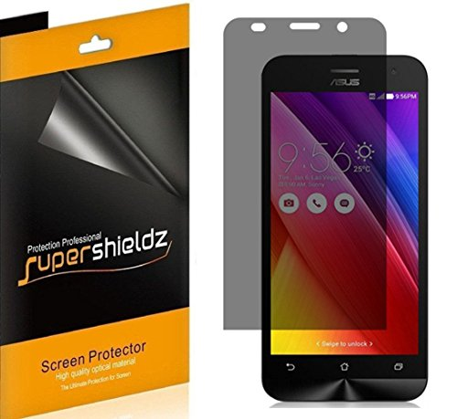 [2 Pack] Supershieldz- Privacy Anti-Spy Screen Protector Shield for Asus ZenFone 2 Deluxe [ZE551ML] -Lifetime Replacements ()
