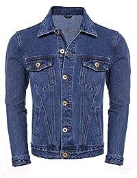 Coofandy Men's Rugged Wear Unlined Jean Denim Jacket