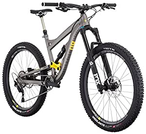 """Diamondback Bicycles Mission 2 Complete All Mountain Full Suspension Bicycle, Grey, 17""""/Medium"""