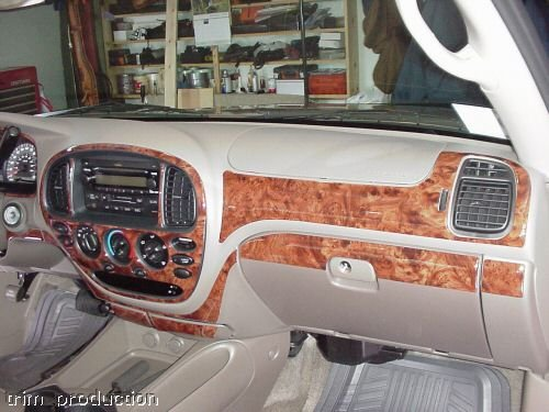 TOYOTA Tundra Interior BURL Wood Dash Trim KIT Set 2000 2001 2002 2003