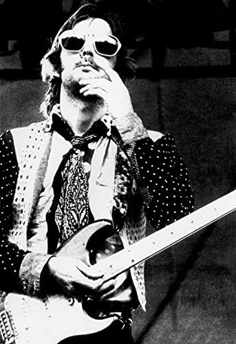 Wearing Sunglasses Smoking Eric Clapton Poster
