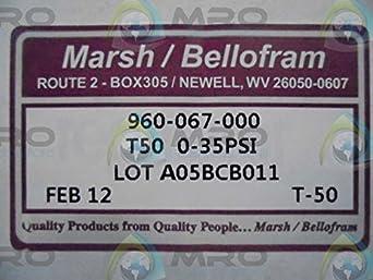 0-30 PSI Regulator NOS Marsh Bellofram Model 50 960-067-106 250 PSI in