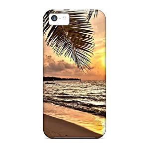 Cute Tpu Abrahamcc Sunset On A Tropical Beach Case Cover For Iphone 5c