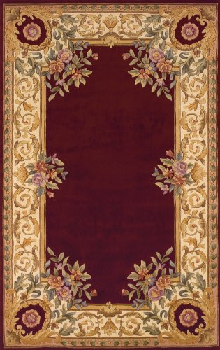 Momeni Rugs HARMOHA-07BUR80B0 Harmony Collection, Traditional Area Rug, 8' x 11', Burgundy ()