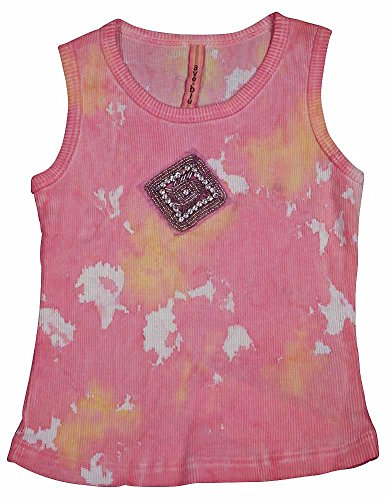 Blu Ribbed Tank Top - Ave Blu - Little Girls Ribbed Tie Dye Tank, Pink, Yellow 13558-2T