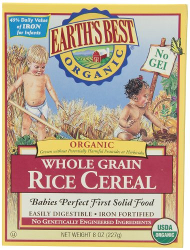 Earth's Best Baby Cereal - Rice - 8 oz (Feeding Rice Cereal)