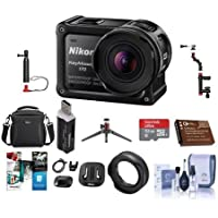 Nikon KeyMission 170 Action Camera - Bundle With 16GB MicroSDHC Card, Camera Case, Spare Battery, Cleaning Kit, Card Reader, Nikon AA-14B Lens Protector, Table Top Tripod, Software Package And More