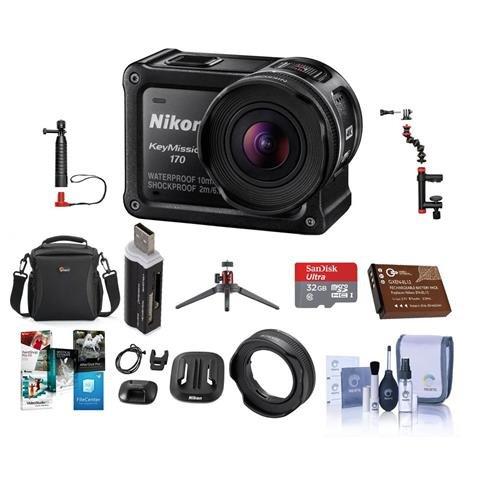 Nikon KeyMission 170 Action Camera - Bundle with 16GB MicroS