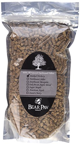 Bear Paw Products Premium Hickory Wood Smoker Pellets 1.5 Lb. (Hickory Flavor)