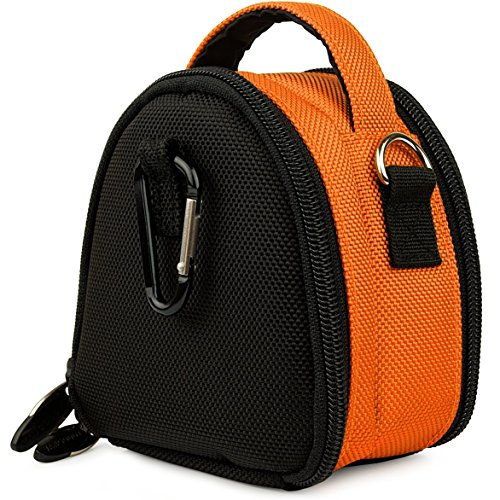 - Orange VG Laurel Edition Stylish Nylon Camera Carrying Case Pouch for Pentax Optio RZ18 / Q / RZ10 / M90 / H90 / E90 / P80 / WS80