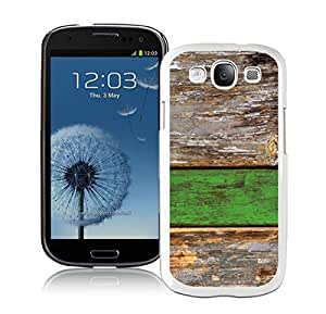 Samsung Galaxy S3 Case I9300 Element Old Green Wood Texture White Cell Phone Case Cover Protector
