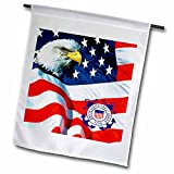 3dRose fl_982_2″ U.S. Coast Guard Garden Flag, 18 x 27