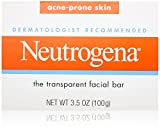 Neutrogena Transparent Facial Bars, Acne-Prone Skin Formula, 3.5 Ounce (Pack of 8)