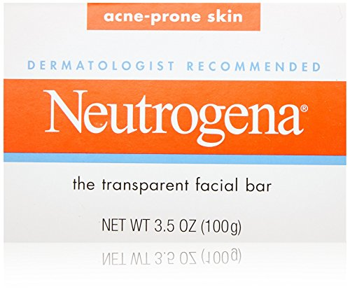 Neutrogena Transparent Facial Bars, Acne-Prone Skin Formula, 3.5 Ounce (Pack of 8) Neutrogena Acne Soap