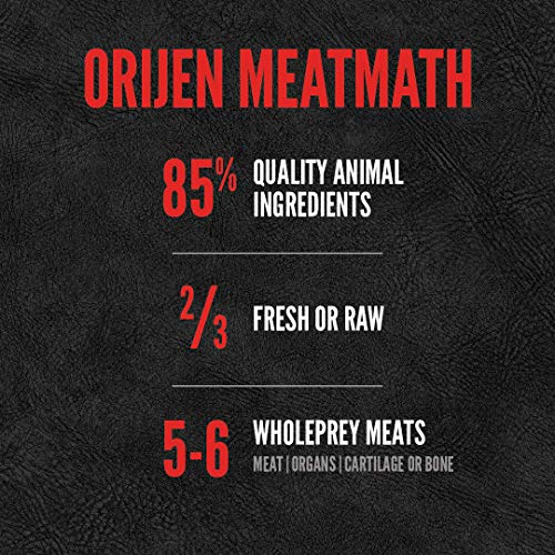 ORIJEN Dry Dog Food, Grain Free, High Protein, Fresh and Raw Animal Ingredients