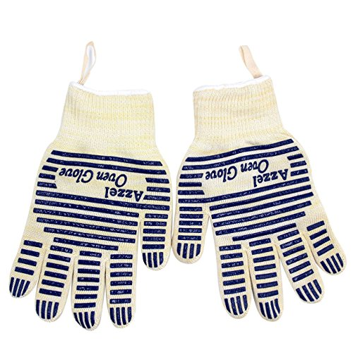 Oven Hot Mitt (Oven Glove,Heat Resistant Oven Mitts with Fingers,Hot Surface Handler-Kitchen Gloves 1 Pair for Cooking,Baking,BBQ,Grilling)