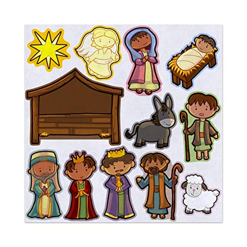- Away in a Manger Christmas Nativity Felt Play Art Set Flannel Board Story Storyboard Pieces