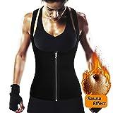 ROMUCHE Waist Trainer Vest for Weight Loss - Women Neoprene Sauna Sweat Tank Top Tummy Control Body Shaper