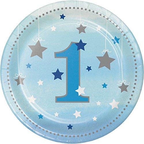 One Little Star Boy 1st Birthday Dessert Plates, 24 ct ()