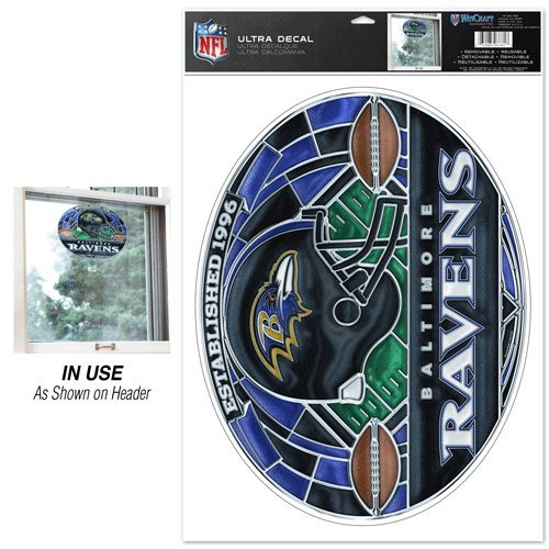 Baltimore Ravens Stained Glass - Baltimore Ravens Ultra Decal Stained Glass