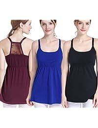 TANZKY Women's Nursing Top Tank Cami Maternity Shirt Sleep Bra for Pregnancy