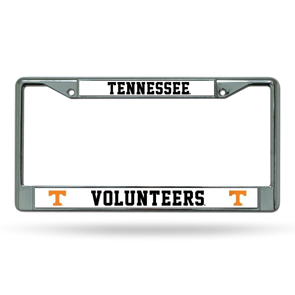 FC180101 Orange Lettering Rico Industries Inc NCAA Tennessee Volunteers Chrome Plate Frame