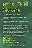 Amazon Price History for:Notice To All Students, motivational classroom poster
