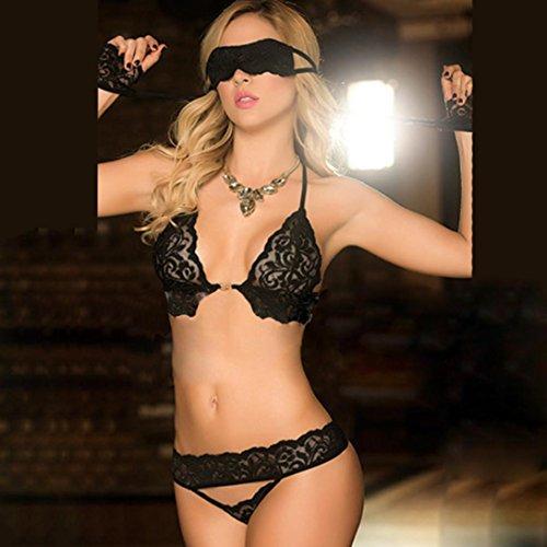 sexy notte lingerie Intimo Temptation intimo Spice da da intima pizzo in donna di donna Nero biancheria intima Biancheria mussola hot Sysnant Moda Sexy g1qw5x1Er