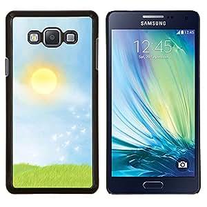 TECHCASE---Cubierta de la caja de protección para la piel dura ** Samsung Galaxy A7 ( A7000 ) ** --Naturaleza Sunset Campo