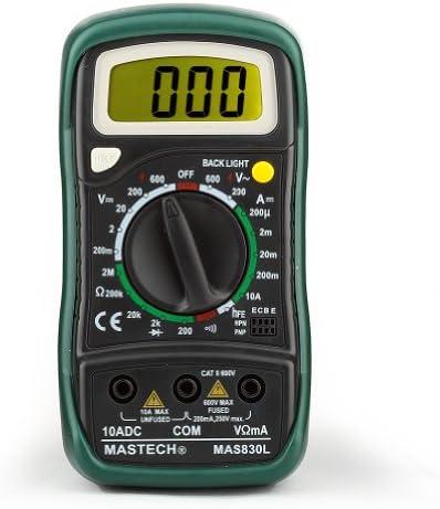 Mastech MAS830L Pocket Digital Multimeter Data Hold AC DC Voltage Current