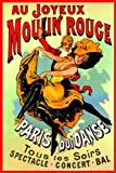 Moulin Rouge French Vintage French Art Nouvea Advertisement PAPER POSTER measures 36 x 24 inches (91.5 x 61cm)