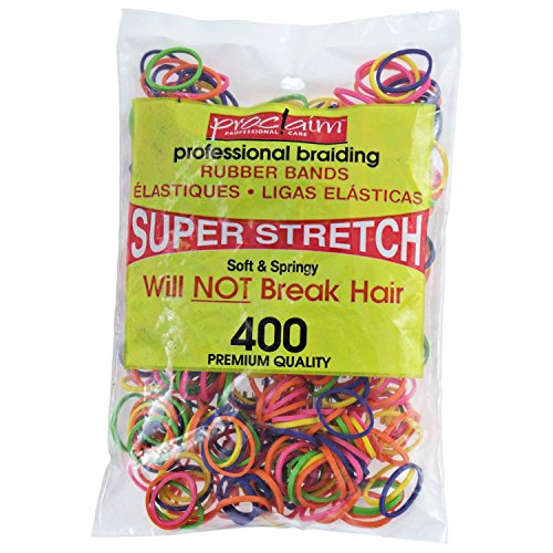 Band Assorted (Proclaim Rubber Bands Assorted Brights 400 Count Assorted Brights)