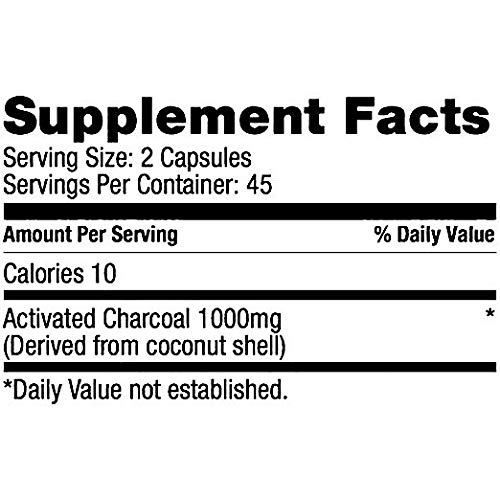 Bulletproof Coconut Charcoal, Supports Better Digestion and Gas Relief (90 Capsules) (2-Pack) by Bulletproof (Image #1)