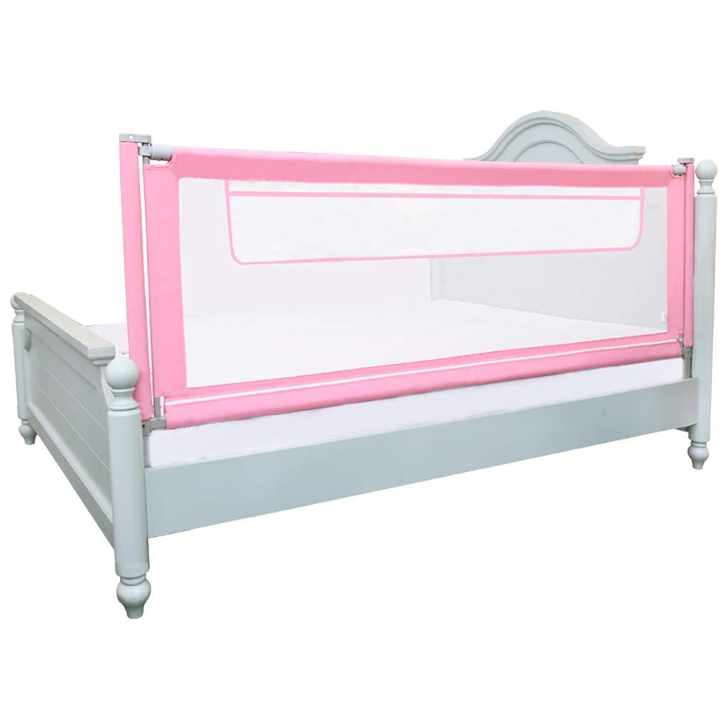 赤ちゃん ゲート キッズツイン、ダブル、フルサイズのクイーン&キングマットレス - 垂直持ち上がる子供の粉々になりにくいバッフル、ワンピースのためのピンクの幼児ベッドレールガード (色 : Pink, サイズ さいず : 180cm) 180cm Pink B07PBBLWZZ