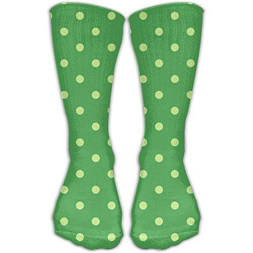 Polka Dots Mens Cool Knee High Socks (Cotton Loop Tug)