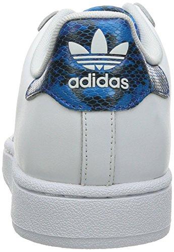 adidas Original-SUPERSTAR 2 Blanc--Bleu M21232