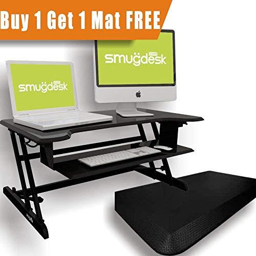 Standing Desk, Stand up Adjustable Desk Riser Converter for Desktop Laptop Dual Monitor