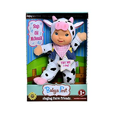 The Lakeside Collection Baby's First - Singing Farm Friends - Cow Sings Old McDonald: Toys & Games