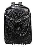 Backpack School Laptop Bag with Chain Nose Ring HN-61