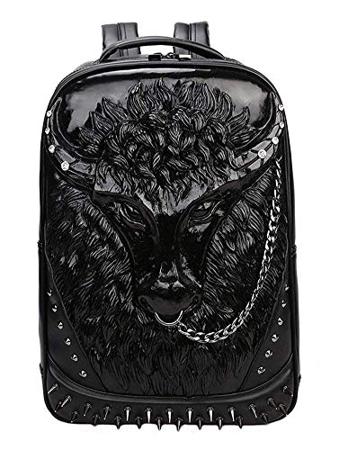 Backpack School Laptop Bag with Chain Nose Ring HN-57