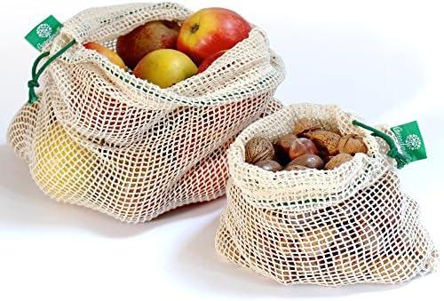 Reutilizables de la fruta - y las verduras de bolsa de Bio-Algodón ...