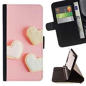 For Samsung Galaxy S6 EDGE (NOT S6) Plus / S6 Edge+ G928 Case , Tres corazón blanco- la tarjeta de Crédito Slots PU Funda de cuero Monedero caso cubierta de piel