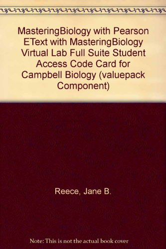 MasteringBiology with Pearson EText with MasteringBiology Virtual Lab Full Suite Student Access Code Card for Campbell B