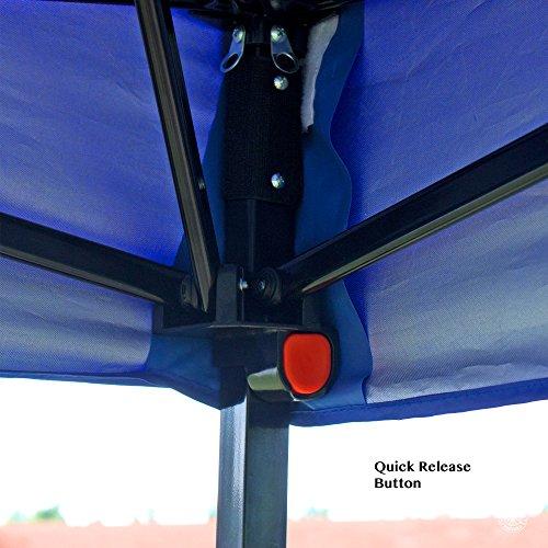 Pop Up Canopy Tent 10 X 10 Feet Blue Uv Coated