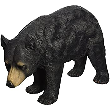 Design Toscano North American Black Bear Walking Statue, Multicolored
