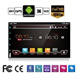 Best Wifi Model Android 6.0 Quad-Core 6.95'' Full touch-screen Universal Car DVD CD player 2 din Stereo Navigation Built in and external microphone free camera
