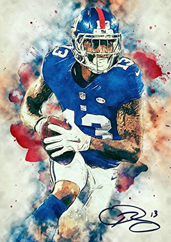 Wall Art Print entitled Odell Beckham Jr by Inna Ivanova